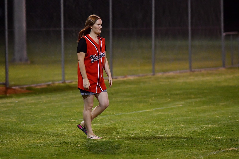 """""""A"""" Grade Semi Final Naomi Goldspink #23 pitching the first ball for Berri A's first finals"""