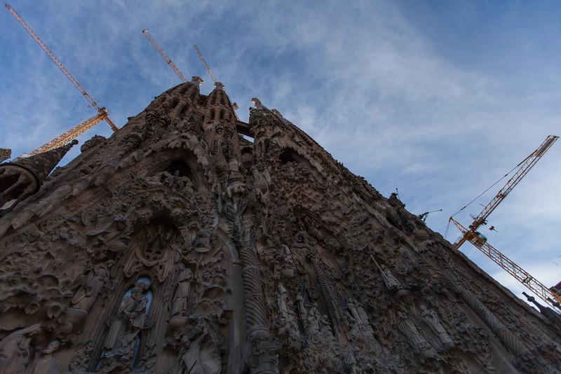 The Nativity façade at the Sagrada Família.