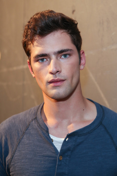 NEW YORK, NY - SEPTEMBER 07:  Model Sean O'Pry poses backstage at the Billy Reid spring 2013 fashion show during Mercedes-Benz Fashion Week at Eyebeam on September 7, 2012 in New York City.  (Photo by Chelsea Lauren/Getty Images)