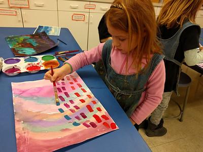 Kindergarten Alma Thomas-inspired Paintings