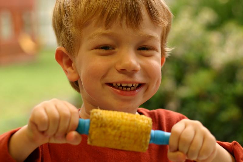 He loves corn.