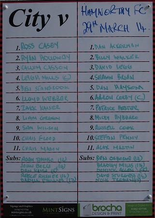 Winchester City (1) v Hamworthy United (1) 29.3.2014