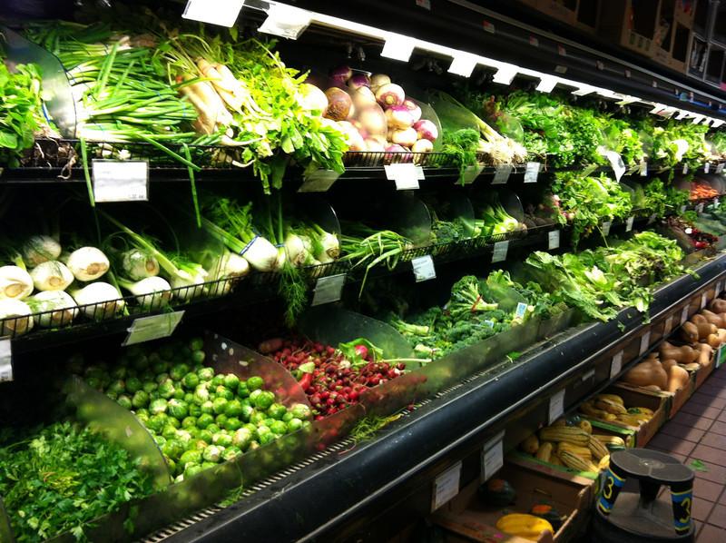 The coop in Brooklyn full of organic beautiful produce.