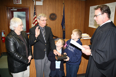 William Boyer, Swearing in, Rush Township Auditor, District Magistrate, Tamaqua (11-30-2011)