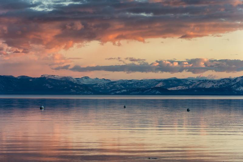 Beautiful sunset at Lake Tahoe