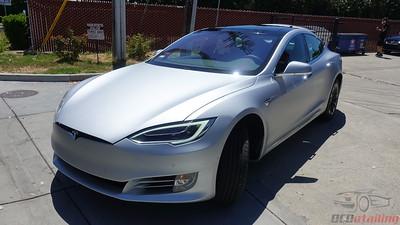 2018 Tesla Model S - Silver Metallic - XPEL Stealth Wrap