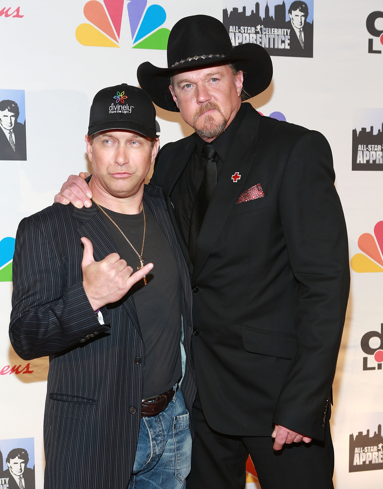 "Description of . Stephen Baldwin (L) and Trace Adkins attend ""All Star Celebrity Apprentice\"" Finale at Cipriani 42nd Street on May 19, 2013 in New York City.  (Photo by Robin Marchant/Getty Images)"