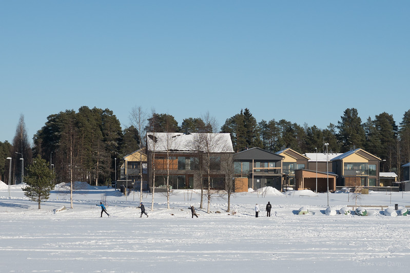 Cross Country Skiing on Oulujoki