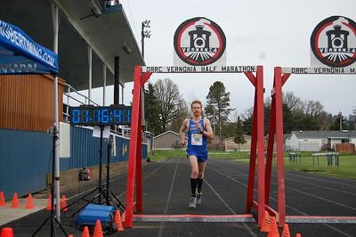2017-04-09 Vernonia Half Marathon Finish Line