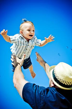 Jen + John = Keegan (Family Photography, Seabright Beach, Santa Cruz, California)