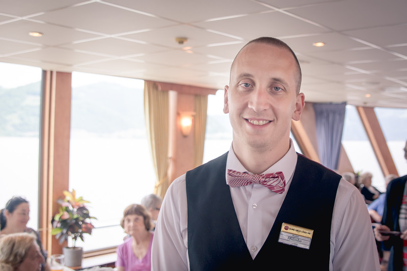 Milinko had a dry sense of humor and always made us laugh.  Such excellent service on this ship.