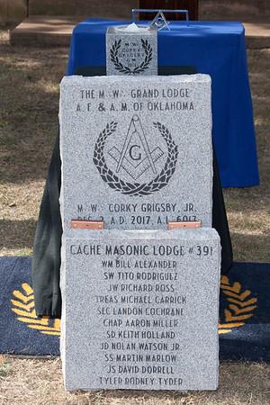 Cache Lodge #391 Cornerstone Ceremony - 12/2/2017