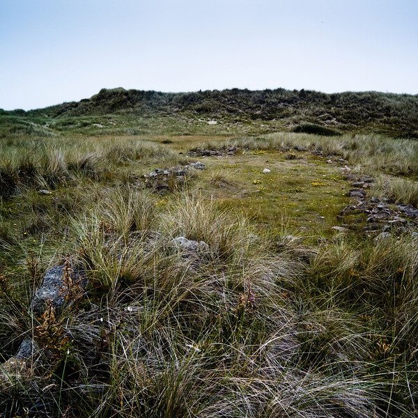 Remains of medieval farmhouse, Green Shiel, Lindisfarne UK