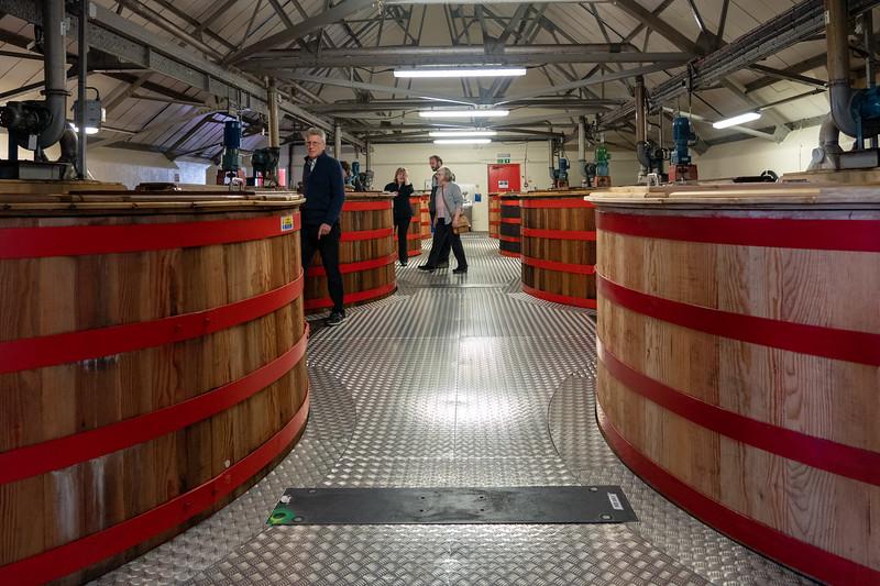 Wash backs at Cardhu Distillery