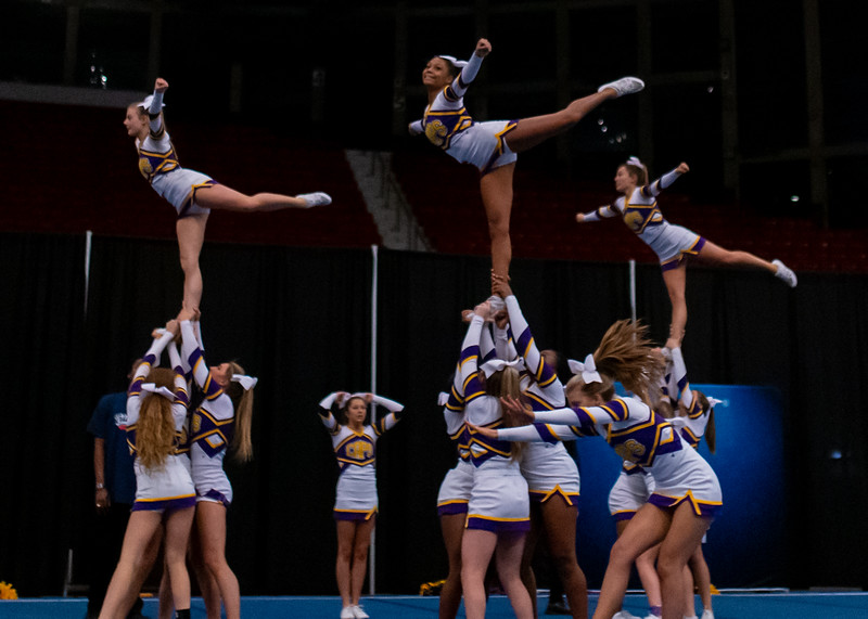 Broughton cheerleading Pre-States. November 16, 2019. D4S_1715