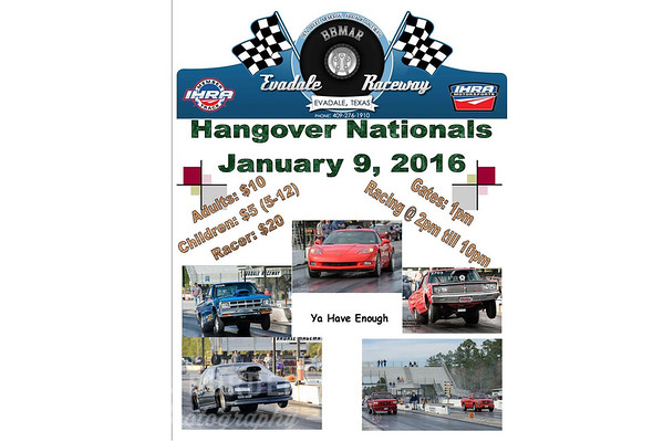 "1-9-2016 Evadale Raceway ""Hangover Nationals"""