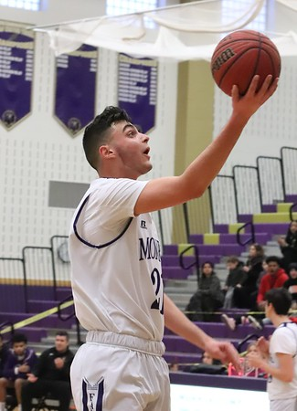 Feb. 25, 2019 Boys Basketball 1st Round States defeated South Bruns. Vikings, photos by R DeBoer