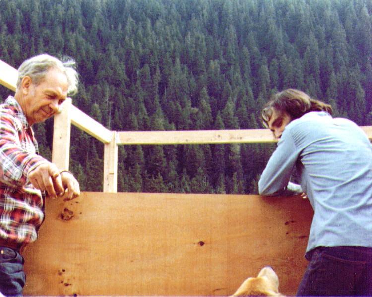 Wayne,Griz, Dan working on Porch,Juneau, AK, 1980.jpg