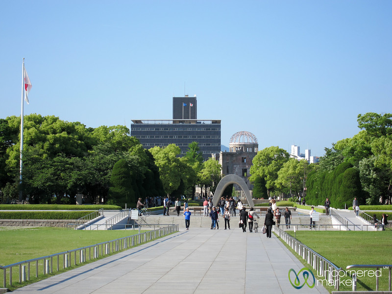 A View of Peace Monuments and Atomic Bomb Dome - Hiroshima, Japan
