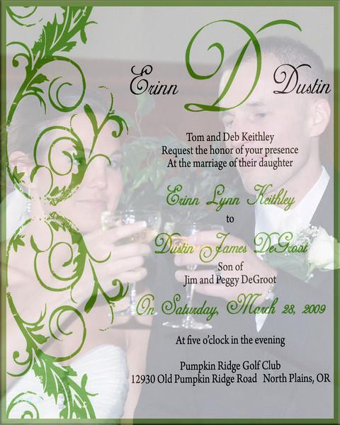 Erinn & Dustin's Wedding March 28th, 2009