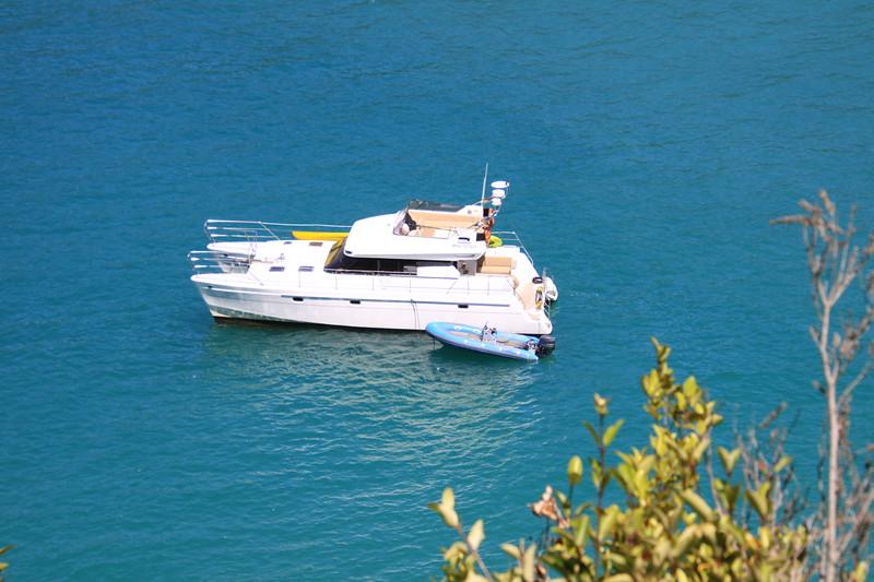 Our catamaran in Abel Tasman