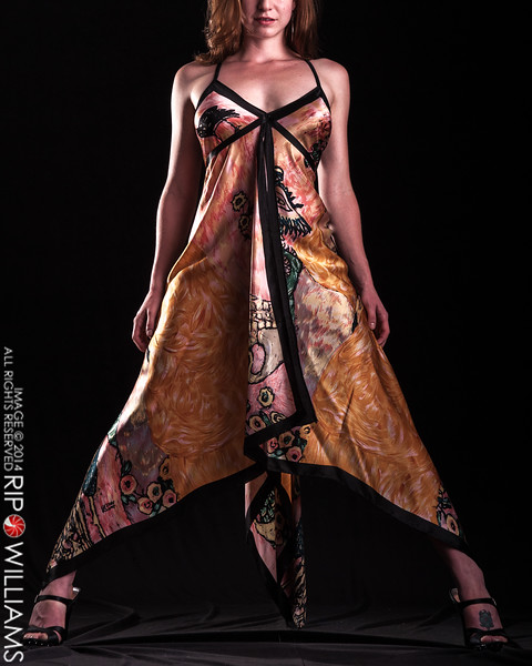 Santa Fe fashion model Katelin in Goddess Dress