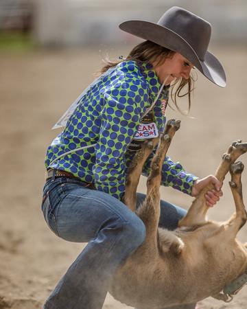 Senior Girls Goat Tying Falkland 2019