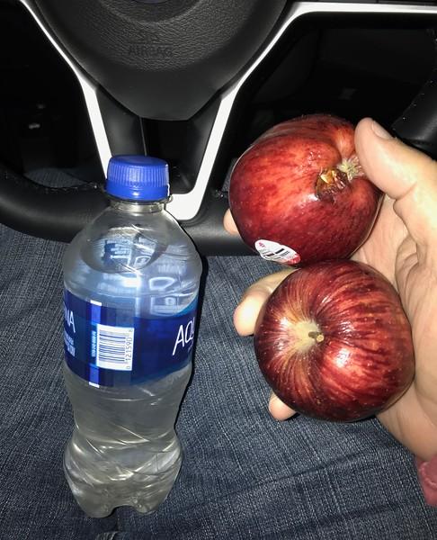 She tells me I should eat more apples.