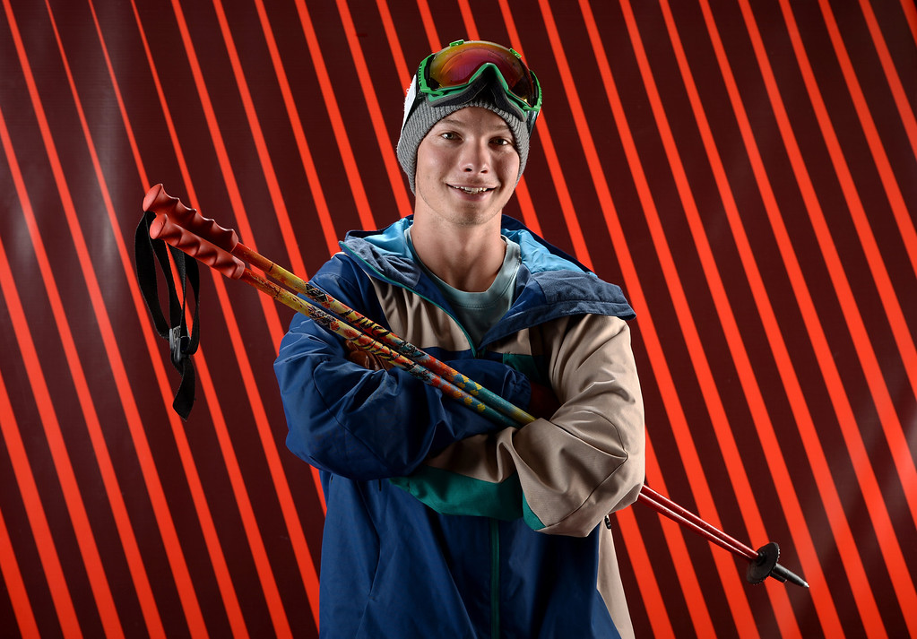 . Freeskier David Wise poses for a portrait during the USOC Media Summit ahead of the Sochi 2014 Winter Olympics on October 1, 2013 in Park City, Utah.  (Photo by Harry How/Getty Images)