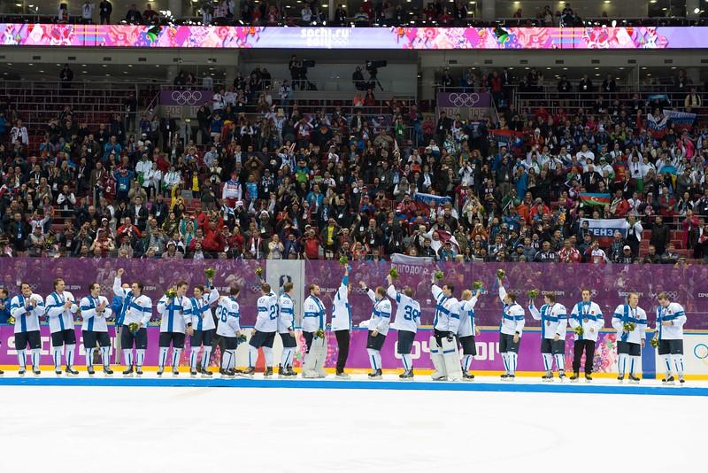 22.2.2014 FINLAND-USA ice hockey