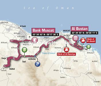 Tour of Oman Stage 3: Bank Muscat > Al Bustan, 145kms