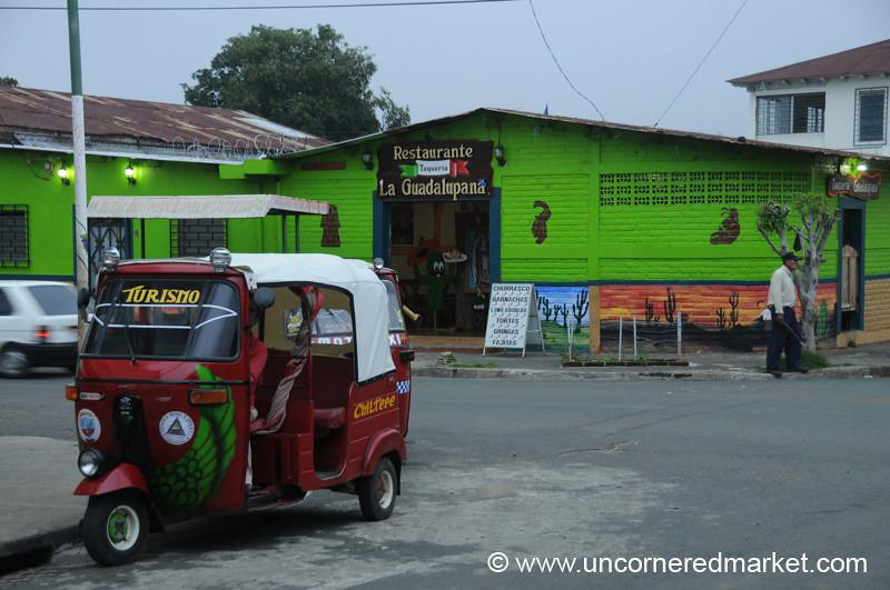 Tuk Tuk Near a Restaurant - Juayua, El Salvador