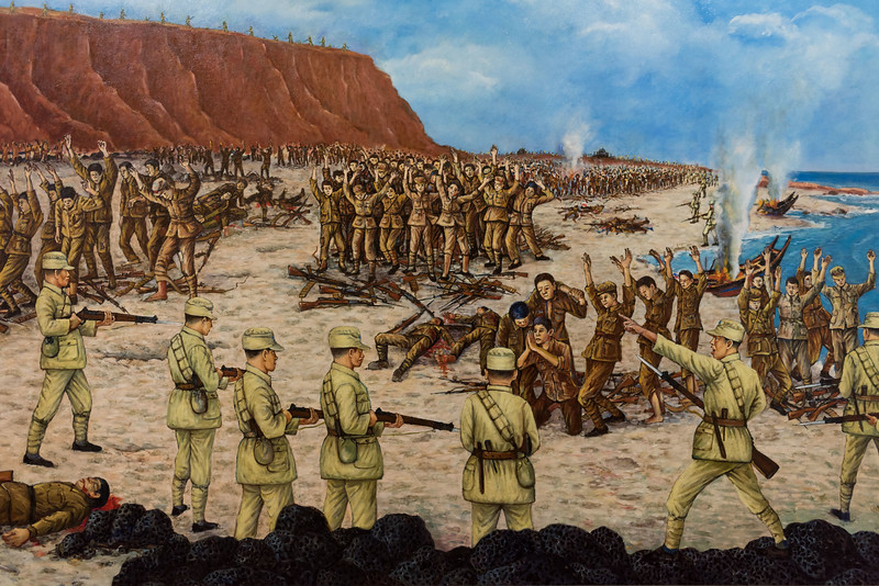 Guningtou Battle Museum, Kinmen. Depiction of PLA surrender at Guningtou, October 27, 1949.