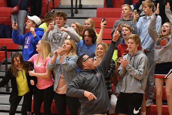 Student Crowd - Elkhorn Basketball game