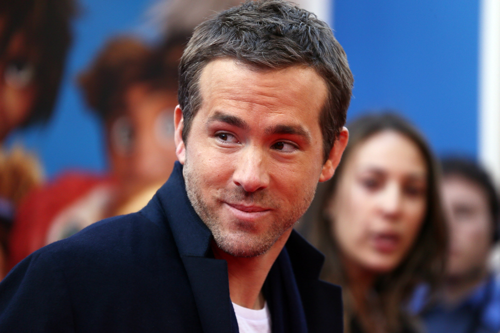 """. Actor Ryan Reynolds attends \""""The Croods\"""" premiere at AMC Loews Lincoln Square 13 theater on March 10, 2013 in New York City.  (Photo by Neilson Barnard/Getty Images)"""