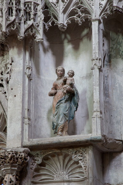 Troyes Sainte-Madeleine Church Virgin and Child