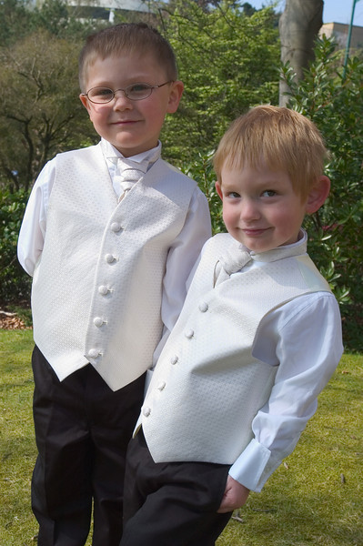 Page boys at a Summer wedding in Dorset