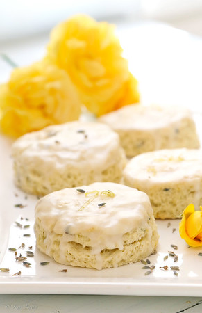 Dairy Free Coconut Milk Lemon Scones with Lavender Option
