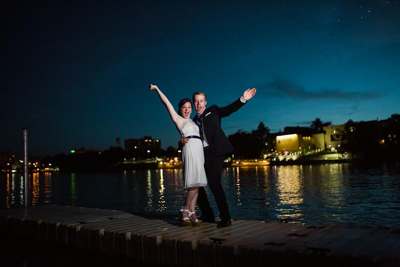 Nighttime Bride and Groom Portraits
