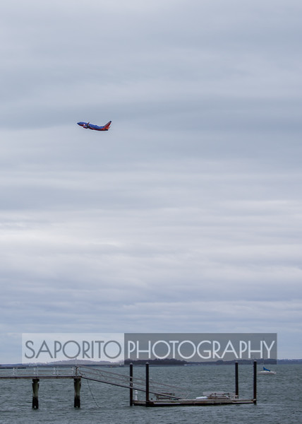 Southwest 737 climbing out of BOS