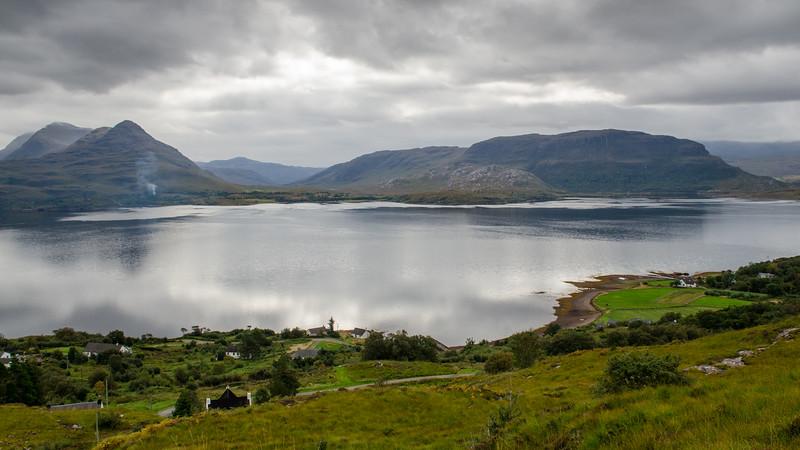 Shieldaig mountains on Loch Torridon