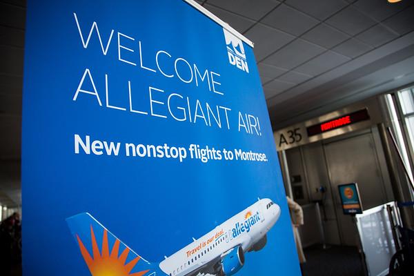 12-17-16 Allegiant Airlines Inaugural Flight to Montrose Gate Event