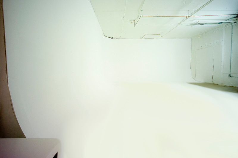 White corner cyclorama wall