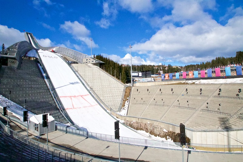 The ski jump at Holmenkollen.