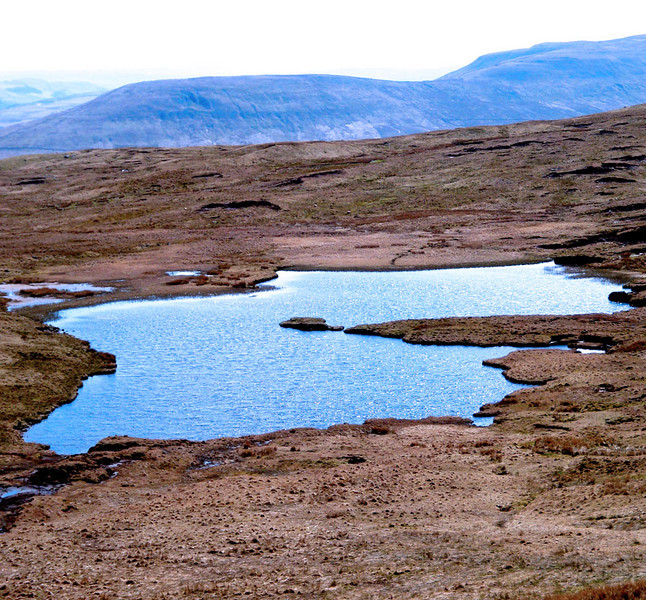 Whernside lake. Descending from Whernside.