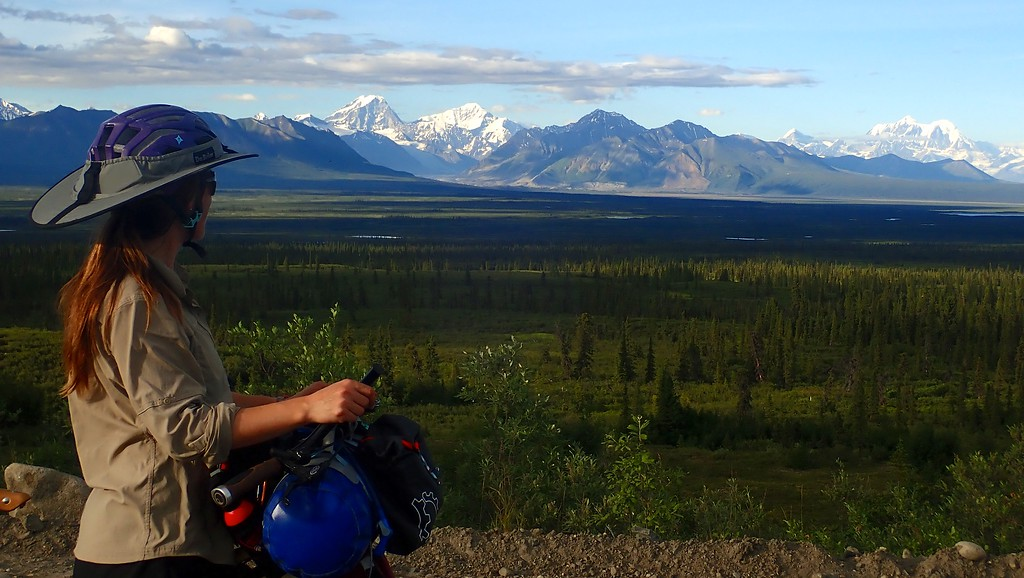 Julie on the Denali Highway, Alaska 2018