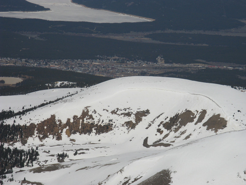 Telephoto of Leadville. I'd guess the lake is still pretty frozen.