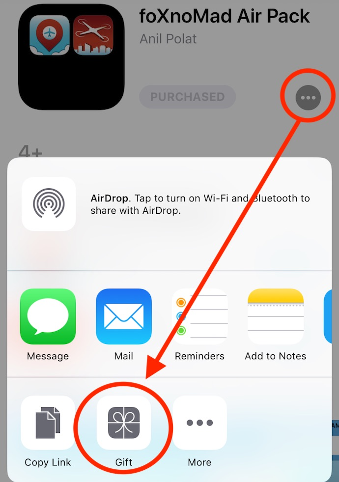 how to gift ios app