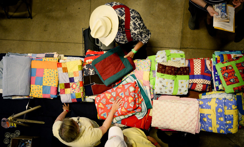 . More than 200 handmade quilts were donated for the Metro Veterans StandDown event. (Pioneer Press: Ben Garvin)