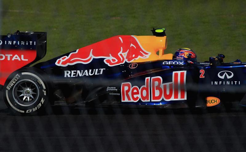 Mark Webber in turn one.